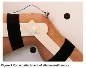 膝蓋骨のノイズを加速度計で測定