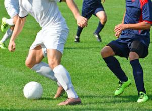 サッカーの方向転換