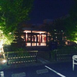 ワネスト夜の玄関口の明かり