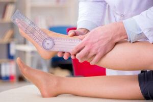 足関節の底屈の可動域